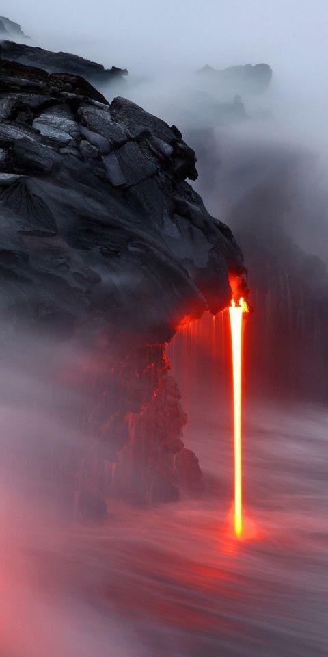 뜨거운폭포 킬라우에라 화산 폭포 ~.jpg